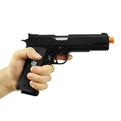 PISTOLA DE AIRSOFT À GÁS GBB GREEN GAS 1911 MKIV 70 BLACK FULL METAL BLOWBACK 6MM - ARMY na internet