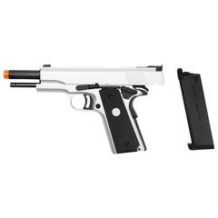 PISTOLA DE AIRSOFT À GAS GREEN GAS 1911 MKIV70 SILVER FULL METAL BLOWBACK- ARMY na internet