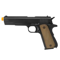 PISTOLA AIRSOFT À GÁS GREEN GÁS M1911 A1 BLACK FULL METAL BLOWBACK 6MM - ARMY