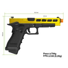 PISTOLA AIRSOFT GREEN GÁS R34 CUSTOM TYPE F CNC SLIDE BK BARREL BLOWBACK - ARMY - comprar online
