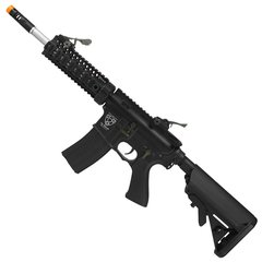 RIFLE AIRSOFT ELÉTRICO AEG M4 S.ARMATUS STYLE BK FULL METAL BLOWBACK 6MM - APS