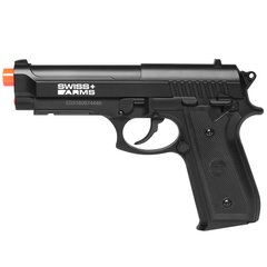 PISTOLA AIRGUN À GÁS CO2 SWISS ARMS PT92 BAX NYLON FIBER GNB 4,5MM - CYBERGUN