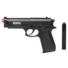 PISTOLA AIRGUN À GÁS CO2 SWISS ARMS PT92 BAX NYLON FIBER GNB 4,5MM - CYBERGUN na internet