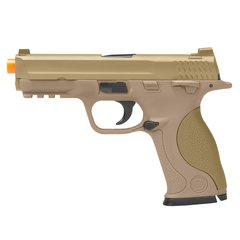 PISTOLA DE AIRSOFT SPRING MP40 G51D DESERT SLIDE METAL 6MM - GALAXY