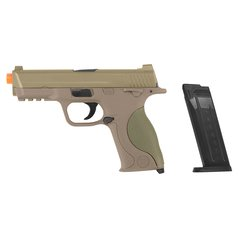 PISTOLA DE AIRSOFT SPRING MP40 G51D DESERT SLIDE METAL 6MM - GALAXY na internet