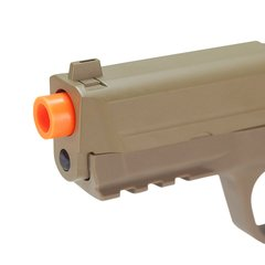 PISTOLA DE AIRSOFT SPRING MP40 G51D DESERT SLIDE METAL 6MM - GALAXY - loja online