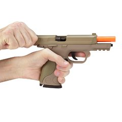 Imagem do PISTOLA DE AIRSOFT SPRING MP40 G51D DESERT SLIDE METAL 6MM - GALAXY