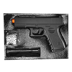 PISTOLA DE AIRSOFT SPRING G15 FULL METAL 6MM - GALAXY