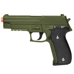 PISTOLA DE AIRSOFT SPRING G26 SIG SAUER P226 G26G GREEN FULL METAL 6MM - GALAXY