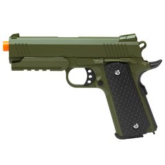 PISTOLA DE AIRSOFT SPRING 1911 WARRIOR VERDE OLIVA FULL METAL 6MM - GALAXY