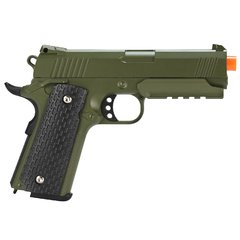 PISTOLA DE AIRSOFT SPRING 1911 WARRIOR VERDE OLIVA FULL METAL 6MM - GALAXY - comprar online