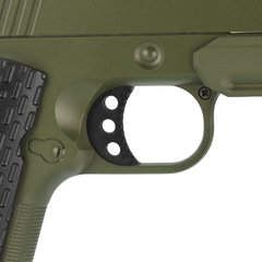 PISTOLA DE AIRSOFT SPRING 1911 WARRIOR VERDE OLIVA FULL METAL 6MM - GALAXY na internet
