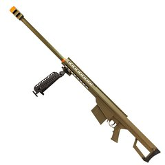 RIFLE DE AIRSOFT SPRING SNIPER BARRETT M82A1.50 DESERT FULL METAL 6 MM - GALAXY