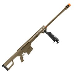 RIFLE DE AIRSOFT SPRING SNIPER BARRETT M82A1.50 DESERT FULL METAL 6 MM - GALAXY - comprar online