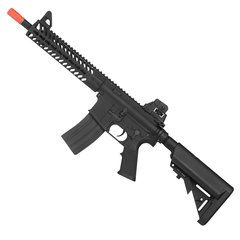 "RIFLE DE AIRSOFT ELÉTRICO AEG FULL METAL KR5 9"" 6MM - KWA"