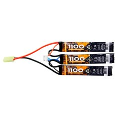 BATERIA LIPO AIRSOFT 11.1V 1100 MAH 20C (3PACKS) QGK