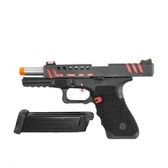 PISTOLA DE AIRSOFT À GÁS GBB CO2 SCORPION D-MOD BLACK BLOWBACK 6MM - APS CONCEPTION na internet