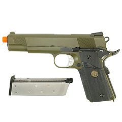 PISTOLA DE AIRSOFT À GÁS GBB GREEN GÁS 1911 MEU OD FULL METAL BLOWBACK 6MM - WE na internet