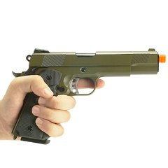 PISTOLA DE AIRSOFT À GÁS GBB GREEN GÁS 1911 MEU OD FULL METAL BLOWBACK 6MM - WE - QG Airsoft | A Maior Loja de Airsoft do Brasil | Tudo para Airsoft