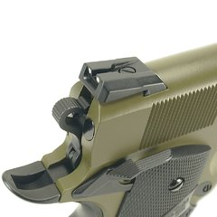 PISTOLA DE AIRSOFT À GÁS GBB GREEN GÁS 1911 MEU OD FULL METAL BLOWBACK 6MM - WE - loja online