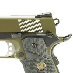 Imagem do PISTOLA DE AIRSOFT À GÁS GBB GREEN GÁS 1911 MEU OD FULL METAL BLOWBACK 6MM - WE