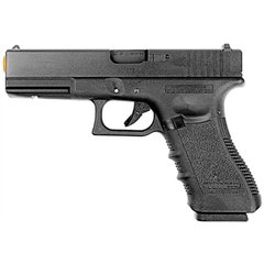 PISTOLA DE AIRSOFT À GÁS GBB GREEN GÁS G17A GEN 3 BLOWBACK 6MM - WE