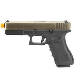 PISTOLA DE AIRSOFT À GÁS GBB GREEN GÁS G17A SILVER GEN 3 BLOWBACK 6MM - WE