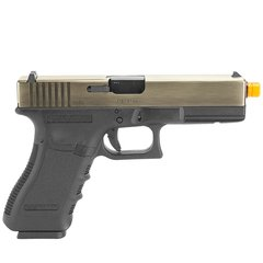 PISTOLA DE AIRSOFT À GÁS GBB GREEN GÁS G17A SILVER GEN 3 BLOWBACK 6MM - WE - comprar online