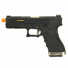 PISTOLA DE AIRSOFT À GÁS GBB GREEN GÁS  G17 BLACK WET1 BLOWBACK 6MM - WE