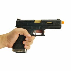 PISTOLA DE AIRSOFT À GÁS GBB GREEN GÁS  G17 BLACK WET1 BLOWBACK 6MM - WE na internet