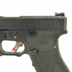 PISTOLA DE AIRSOFT À GÁS GBB GREEN GÁS  G17 BLACK WET1 BLOWBACK 6MM - WE - comprar online