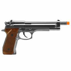 PISTOLA DE AIRSOFT À GÁS GBB GREEN GÁS M92 CROMADA LONGA FULL METAL BLOWBACK 6MM - WE - comprar online