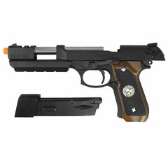 PISTOLA DE AIRSOFT À GÁS GBB GREEN GÁS M92 BIOHAZARD BARRY BURTON FULL METAL BLOWBACK 6MM - WE - QG Airsoft | A Maior Loja de Airsoft do Brasil | Tudo para Airsoft