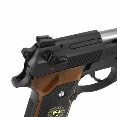 PISTOLA DE AIRSOFT À GÁS GBB GREEN GÁS M92 BIOHAZARD BARRY BURTON FULL METAL BLOWBACK 6MM - WE - loja online