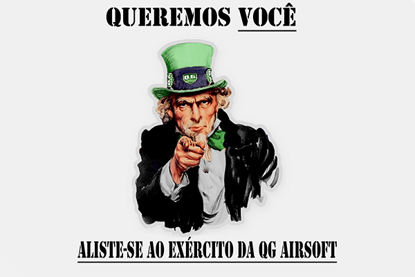 Queremos você como parte do time QG Airsoft