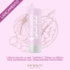 ESFOLIANTE LABIAL - SOS LÁBIOS - TOP BEAUTY