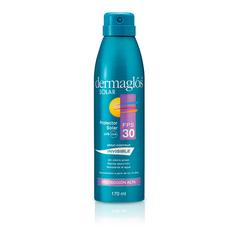 Dermaglós Protector solar con FPS 30 en Spray Fórmula invisible en spray continuo x 170 ml