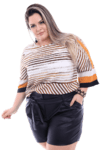 Shorts Plus Size Clochard Preto
