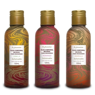 ÓLEO BEIJÁVEL MASSAGEM LA PASSION 120ML SOFISTICATTO - sex shop jundiai