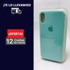 Silicona Case iPhone X Verde Agua 102664