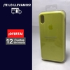 Silicona Case iPhone Xs Max Amarillo Fluor 107233