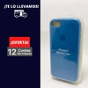 Silicona Case Iphone 7 Azul Cobalto 103102