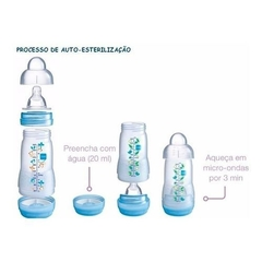 Kit 4 Mamadeira Mam Easy Start - Gift Set - Cinderela Baby
