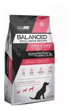 VITAL BALANCED EXCLUSIVE CERDO Y ARROZ 15KG