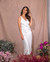 Vestido Sleep Satin Lace Off White