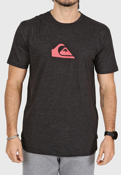 Remera Quiksilver Comp Logo Heather (Negra) en internet