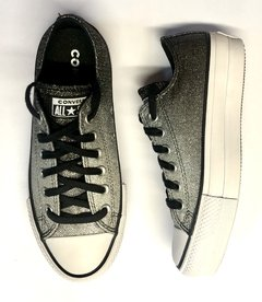 All Star Lift Metallic Pure Silver/White/White - comprar online