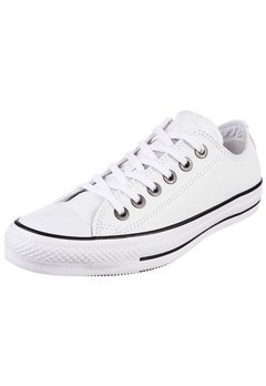 All Star Chuck Taylor Leather Ox White/Black - La Cresta Surf Shop