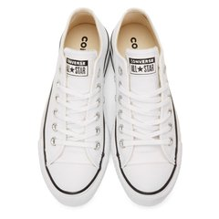 All Star Lift Leather Ox White/Black - tienda online