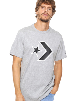 REMERA CONVERSE OUTLINE STAR CHEVRON GRIS 7218A05